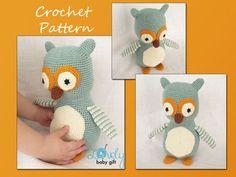 Amigurumi Owl Crochet Pattern, Crochet Pattern, Animal Pattern, CP-123