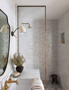 Bathroom Renos, Bathroom Interior, Master Bathroom, Washroom, Bathroom Renovations, Bathroom Inspiration, Interior Inspiration, Amber Interiors, Glass Shower