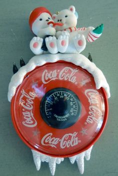 "Vintage ""Weather Or Not Coke Is"" Coca Cola Christmas Tree Ornament #CocaCola"