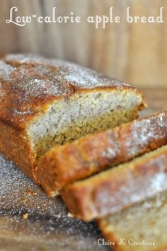 Low-calorie apple and cinnamon bread - via Claire K Creations www.clairekcreations.com