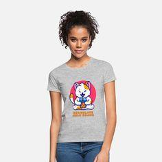 Katze Frauen T-Shirt Sweat Shirt, T Shirt Sport, T Shirt Designs, Unisex, T Shirt Vintage, Biker, Pullover, Gym Workouts, Fitness