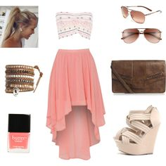 """pretty in pink"" by esdale-s on Polyvore - Once I hit my goal weight i am getting this for myself!!"