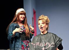 Sarah Berk and Teresa Ganzel as Annelle and Truvy.