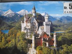 Postcard of Neuschwanstein Castle, from Munich,Germany ...