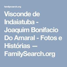 Visconde de Indaiatuba - Joaquim Bonifacio Do Amaral - Fotos e Histórias — FamilySearch.org