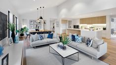 Lounge Seating area in kitchen breakfast room – aliceptpint. Open Plan Kitchen Dining Living, Open Plan Kitchen Diner, Open Plan Living, Living Room Kitchen, Home Living Room, Living Room Designs, Living Spaces, Kitchen With Seating Area, Open Plan House