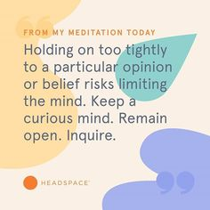 Meditation has been shown to help people stress less, focus more and sleep better. Learn how in just a few minutes a day with Headspace. Headspace App, Stress Less, Daily Meditation, Make Sense, Helping People, Letting Go, Mindfulness, Thoughts, Learning