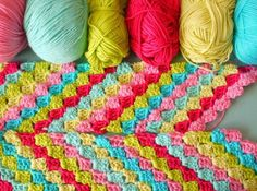 crocheted scarf, wonderful colors