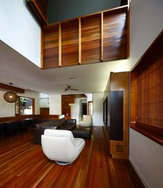 Browne Street House, New Farm Australia by Shaun Lockyer Architects. Void Space