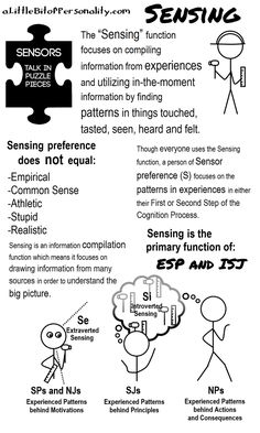 Sensing in Focus ~ A Little Bit of Personality: What Do All These Letters Mean Anyway? #Sensor #MBTI