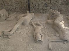 Pompeii... Such a solemn place, although it is undoubtably beautiful. Sadly, the masterful artwork of the ancient village does not overpower the sorrow that is felt due to all the death and destruction caused that day.  :(