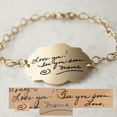 Memorialize a lost parent or carry your toddlers first love note close to your heart. You send an image of the writing you never want to forget