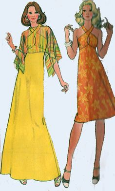 Vintage 70s Sewing Pattern McCalls 5081 Disco by sandritocat, $16.00 I think this is the pattern I made Senior Prom dress from.