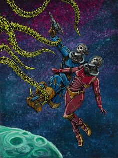 Clash in the Cosmos by David Lozeau | Day of the Dead
