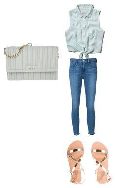 """Untitled #107"" by madisonwatson06 ❤ liked on Polyvore featuring Abercrombie & Fitch, Frame Denim, Ancient Greek Sandals and DKNY"