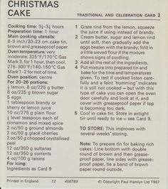 Marguerite patten recipes christmas cake