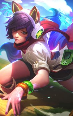 "cyberclays: ""League of Legends: Arcade Ahri - by Alex Flores """
