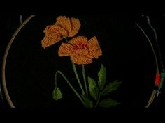 Hand embroidery 3D flower and leaves with easy basic stitches - YouTube