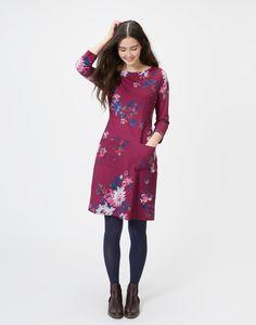 Iliana Blush Floral Woven Dress | Joules UK