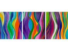 "abstract acrylic cartoon paintings | Line Movement"" by Yiqi Li"