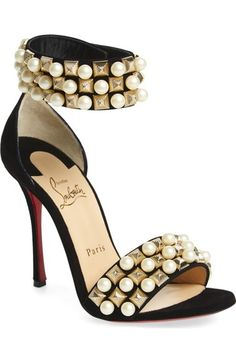 Christian Louboutin 'Tudor Bal' Embellished Cuff Sandal available at #Nordstrom