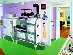 Grandmamas's Kitchen by Roxa Smith, oil on canvas, 2011 Art Interiors, House Art, Oil On Canvas, Art Decor, Design Ideas, Inspire, House Design, Paintings, Artists