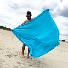 OFF SEASON two person beach towel  Garment dye double sided loop terry with corner pockets for sand or sundries. This July 4th: OWN THE BEACH! 100% Cotton 100% Made in NYC