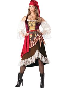 Deluxe Deckhand Darlin Pirate Womens Costume