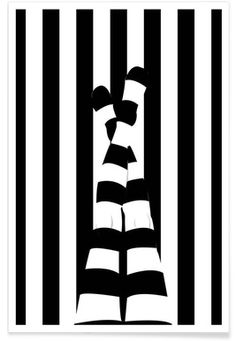 Striping legs - Ctoft - Premium Poster
