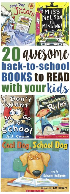 Great books to read with your kids before school starts!