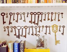 Vintage Keys, Keys, Keys! ~ Display in a shadow box. Hang a small picture frame with attached ribbon from them. Paint with a splash of color for an entire different look. Endless possibilities! Love it!