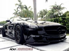A Mercedes-Benz SLS AMG named 'Darth Vader' Click on the pic to find out why...