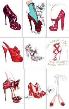 croquis de sapatos - Pesquisa Google