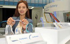 Flexible Akkus von Samsung 0,3 mm dick