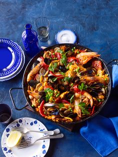 """THIS MONTH - Let's welcome all our Students from Spain by saying """" HOLA!"""" and there is not better way to learn a bit of Spanish by tasting a PAELLA VALENCIANA - Yum! - ( Courtesy of SBS """"Feast"""") This dish is perfect for enjoying communally."""