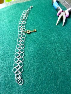 Chainmail bracelet creation at Creative Arts Inc.