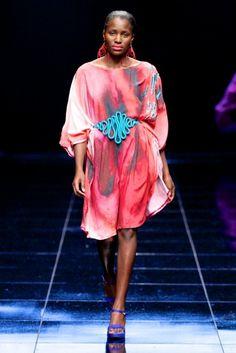 Michelle Ludek floaty dress and bright belt #love Photo by Simon Deiner
