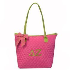 Delta Zeta quilted tote bag....got it!! Love my big!!