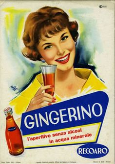Vintage Italian Posters ~ Rossi poster: Gingerino (Recoaro)
