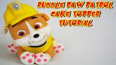 RUBBLE PAW PATROL CAKE TOPPER FONDANT - BULL DOG PASTA DI ZUCCHERO TORTA...