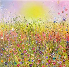 Stunning floral-inspired paintings by artist Yvonne Coomber | Heart Home magazine