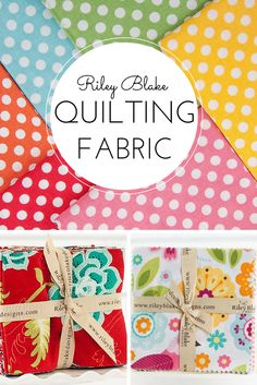 Whether you need polka-dots or chevron fabrics, Riley Blake has just the design to cheer you up! Have a splendid pre-cut picnic with Riley Blake's delightful assortment of prints, available on Craftsy today.