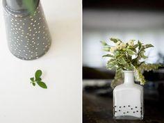 DIY Glass DIY Polka Dot Bottles Ruffled DIY Glass