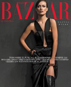 Olivia Wilde in a Giorgio #Armani dress on the cover of Harper's Bazaar Mexico, September 2013