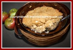 Apple Crisp Apple Brown Betty Recipe :  How can anything made with apples taste bad? lol