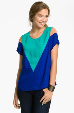 Inspira Colorblock Top (Juniors) available at #Nordstrom