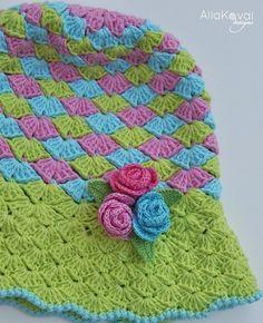 Rosa brotes de ganchillo sombrero patrón/eBook por mylittlecitygirl                                                                                                                                                      Más