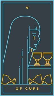 Five of Cups card from the Golden Thread Tarot Tarot Deck Deck Of Cards, Your Cards, Golden Thread Tarot, Tarot Astrology, Online Tarot, Tarot Card Meanings, Tarot Card Decks, Oracle Cards, Tarot Reading