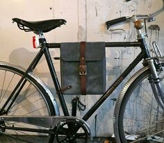 Flux Productions creates really lovely leather bike bags. #bicycles #accessories