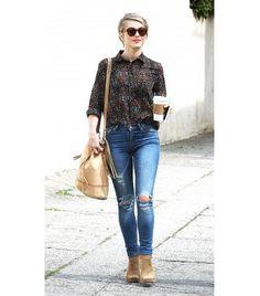 formas de usar jeans rasgado sin perder estilo